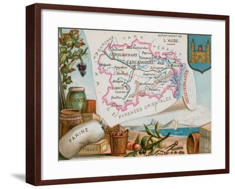 Department of Aude in South-Central France--Framed Art Print