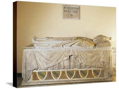 Sarcophagus of Pope Boniface VIII, 1296-Ca 1300--Stretched Canvas Print