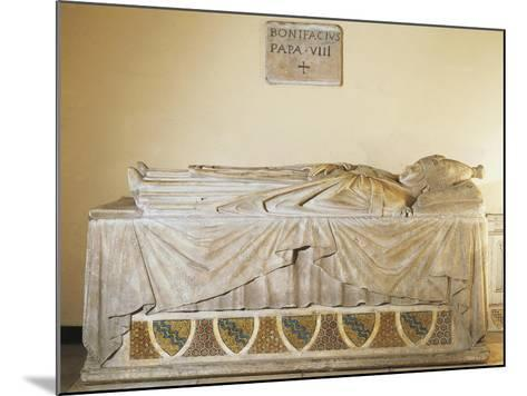 Sarcophagus of Pope Boniface VIII, 1296-Ca 1300--Mounted Giclee Print