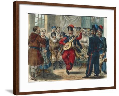 Peasant Festival, Ukraine, 1841, Russia 19th Century--Framed Art Print