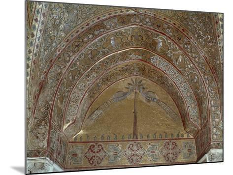 Mosaic Depicting Peacocks, Geometric and Vegetal Motifs, King Roger's Room--Mounted Giclee Print