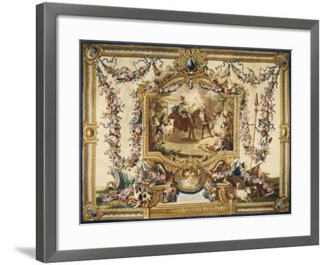 Don Quixote and Sancho on Wooden Horse Gobelins Tapestry--Framed Art Print