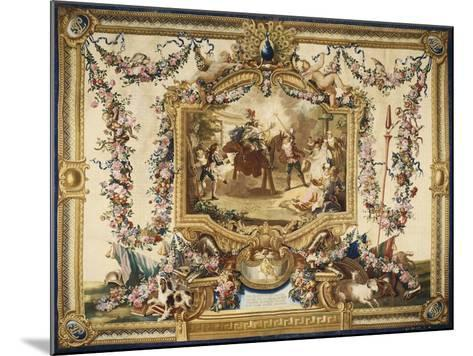 Don Quixote and Sancho on Wooden Horse Gobelins Tapestry--Mounted Giclee Print