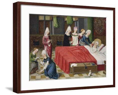 Birth of the Virgin, 1485--Framed Art Print