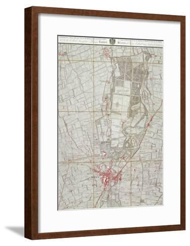Plan of Royal Villa in Monza--Framed Art Print