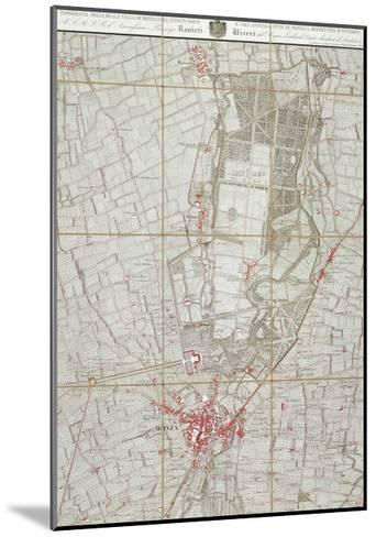 Plan of Royal Villa in Monza--Mounted Giclee Print