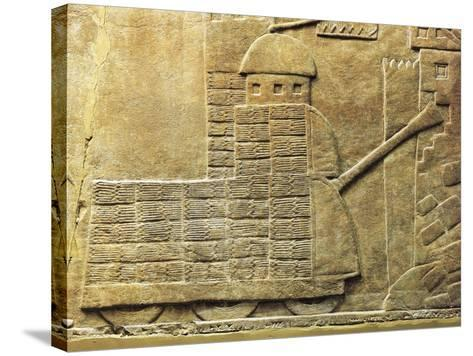 Relief with War Machine, from Ancient Nineveh, Iraq--Stretched Canvas Print