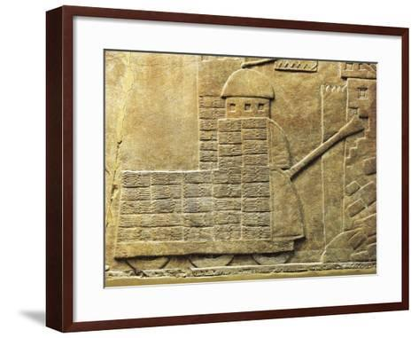 Relief with War Machine, from Ancient Nineveh, Iraq--Framed Art Print