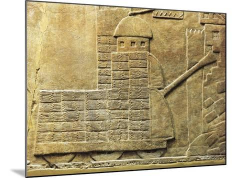 Relief with War Machine, from Ancient Nineveh, Iraq--Mounted Giclee Print