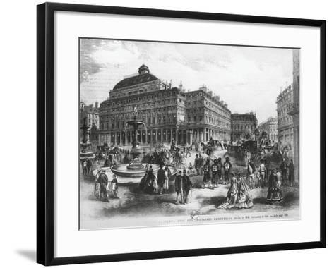 La Place Du Theatre-Francais with Comedie Francaise Building, C.1852-70--Framed Art Print