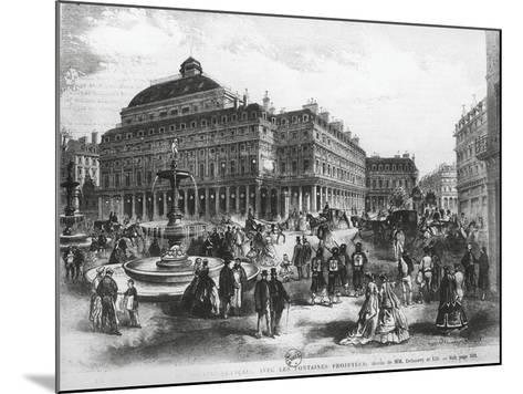 La Place Du Theatre-Francais with Comedie Francaise Building, C.1852-70--Mounted Giclee Print