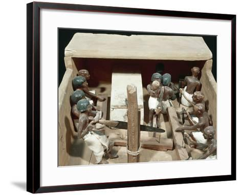 Wooden Model Representing Carpenter's Workshop--Framed Art Print