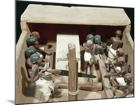 Wooden Model Representing Carpenter's Workshop--Mounted Photographic Print