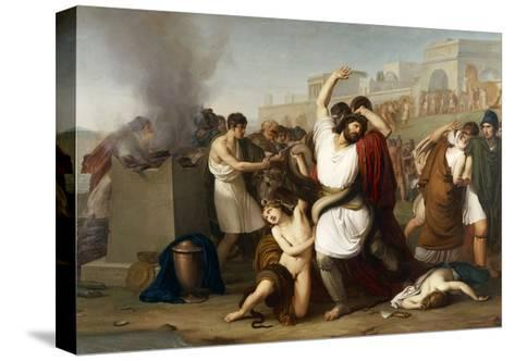 Italy, Milan, Painting of Troyan Priest Laocoon--Stretched Canvas Print