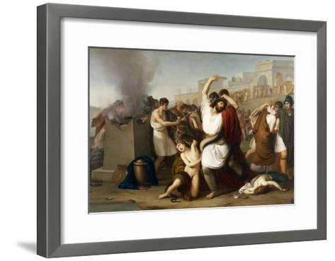 Italy, Milan, Painting of Troyan Priest Laocoon--Framed Art Print