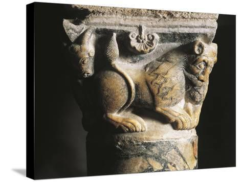 Capital Detail, Crypt of Basilica of San Nicola Di Bari, 1087, Apulia, Italy, 11th Century--Stretched Canvas Print