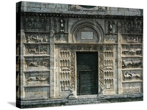 Relief Depicting Life of St Peter and Medieval Stories, Facade, Church of St Peter--Stretched Canvas Print