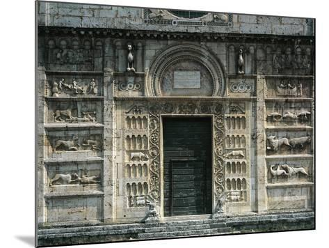 Relief Depicting Life of St Peter and Medieval Stories, Facade, Church of St Peter--Mounted Giclee Print