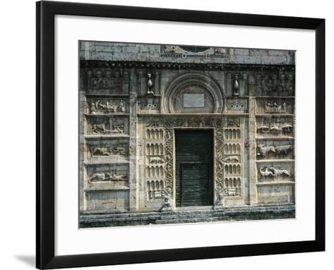 Relief Depicting Life of St Peter and Medieval Stories, Facade, Church of St Peter--Framed Art Print