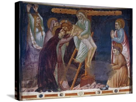 Deposition, 14th-Century Fresco of Apse, Basilica of Sant'Abbondio Como, Italy, 11th-16th Century--Stretched Canvas Print