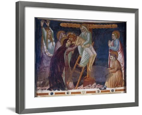 Deposition, 14th-Century Fresco of Apse, Basilica of Sant'Abbondio Como, Italy, 11th-16th Century--Framed Art Print