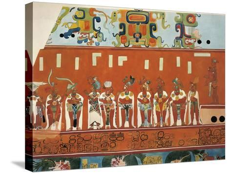 Reconstruction of Frescos from Structure 1 in Bonampak--Stretched Canvas Print