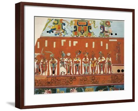 Reconstruction of Frescos from Structure 1 in Bonampak--Framed Art Print
