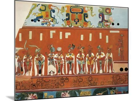 Reconstruction of Frescos from Structure 1 in Bonampak--Mounted Giclee Print