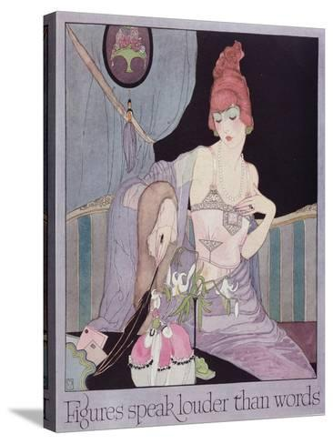 Advertisement for the Model Brassiere Company, from Vogue Magazine, 1919--Stretched Canvas Print