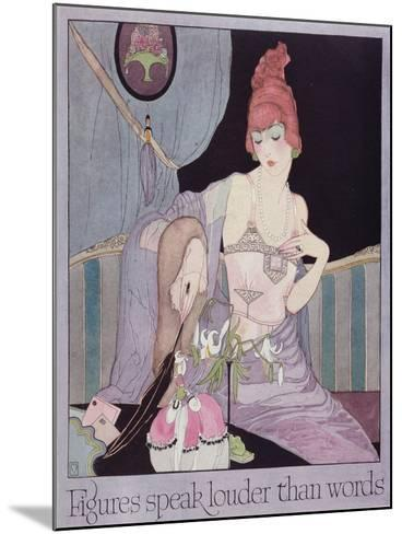 Advertisement for the Model Brassiere Company, from Vogue Magazine, 1919--Mounted Giclee Print