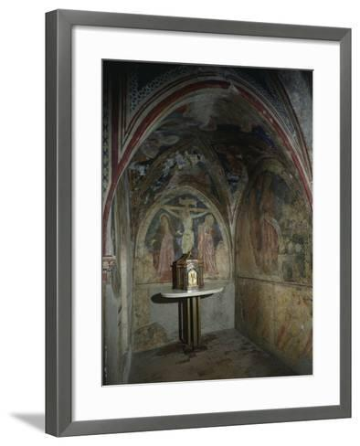 Italy, Subiaco, Sacro Speco Monastery, Upper Church Interior--Framed Art Print