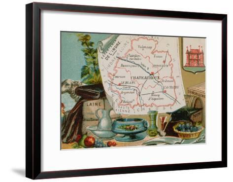 Department of Indre in Central France--Framed Art Print