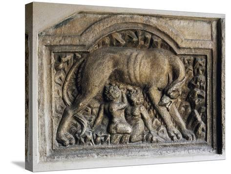 Roman Relief of She-Wolf and Twins, Church of Maria Saal, Klagenfurt, Austria, 1st-2nd Century--Stretched Canvas Print