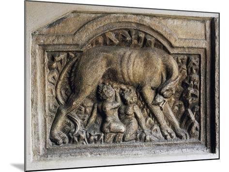 Roman Relief of She-Wolf and Twins, Church of Maria Saal, Klagenfurt, Austria, 1st-2nd Century--Mounted Giclee Print