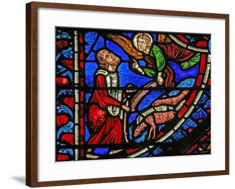Window W1 Depicting the Annunciation to Joachim--Framed Art Print