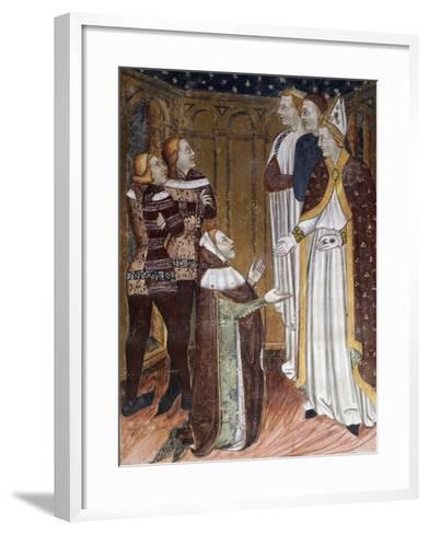 Stories of St Stephen's Life--Framed Art Print