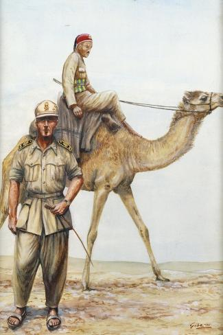 Libyan Military Police Officers, 1942--Stretched Canvas Print