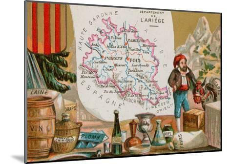 Department of Ariege in Southwestern France--Mounted Giclee Print