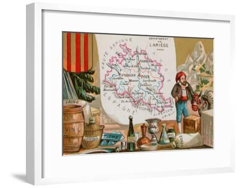 Department of Ariege in Southwestern France--Framed Art Print