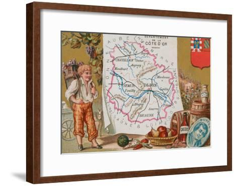 Department of Cote D'Or in Eastern France--Framed Art Print