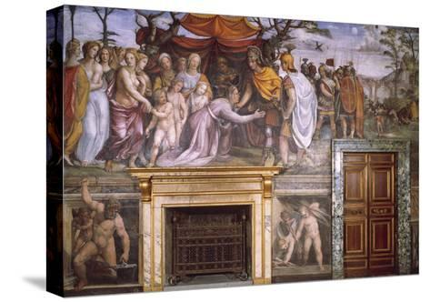 Dario's Mother Begging Alexander the Great and Vulcan at Forge with Cupids--Stretched Canvas Print