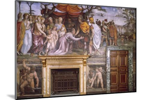 Dario's Mother Begging Alexander the Great and Vulcan at Forge with Cupids--Mounted Giclee Print