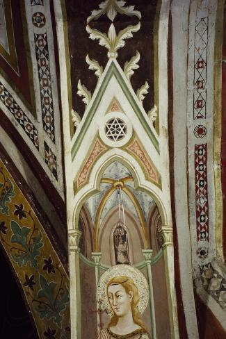 Detail from 14th Century Frescoes in Sacro Speco Monastery, Subiaco, Italy--Stretched Canvas Print