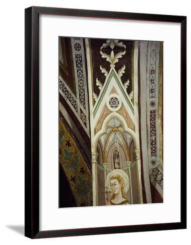 Detail from 14th Century Frescoes in Sacro Speco Monastery, Subiaco, Italy--Framed Art Print