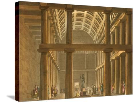 Italy, Milan, Ideal Reconstruction of Parthenon at Athens--Stretched Canvas Print