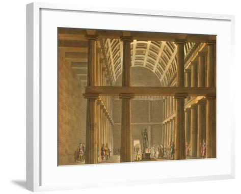 Italy, Milan, Ideal Reconstruction of Parthenon at Athens--Framed Art Print