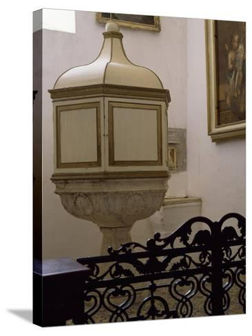 Baptismal Font of Church--Stretched Canvas Print