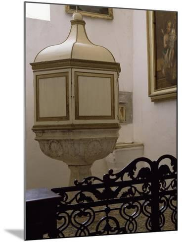 Baptismal Font of Church--Mounted Giclee Print