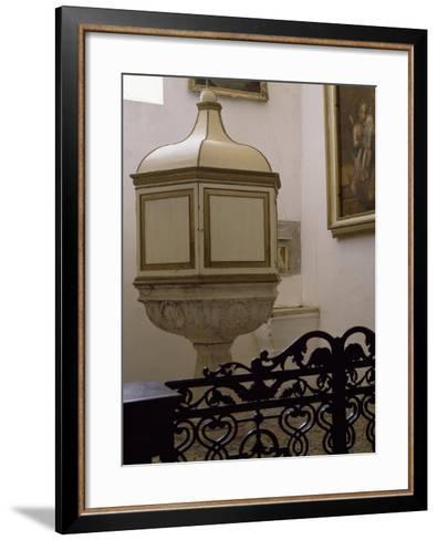 Baptismal Font of Church--Framed Art Print