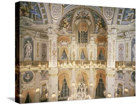 Murano Chandelier and Frescoes--Stretched Canvas Print